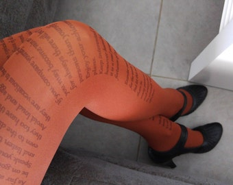 New Desiderata Inspiration Poem Tights , Poetry Tights , Text tights , Literature