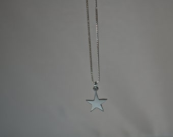 Hand cut Silver Star Pendant