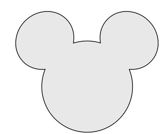 mickey mouse head shape template - mickey mouse nails etsy