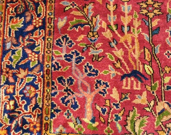 On HOLD for CANDACE -- Lovely Burgundy Anatolian Isparta Rug -- 8 ft. 2 in. by 5 ft.