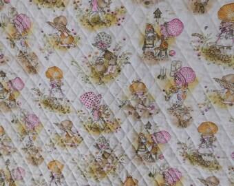 vintage HOLLY HOBBIE baby quilt blanket