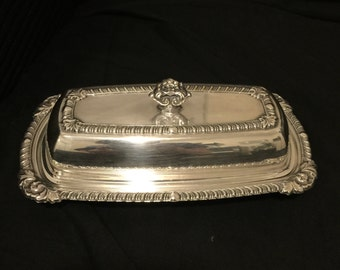 Crosby Silver Plate Butter Dish