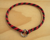 Design Your Own - Braided Kangaroo Leather Dog Tag Ring Collar -  Made to Order