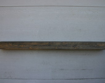 """60"""" Rustic Floating Fireplace Mantle. Reclaimed Wood Display Shelf. Natural Cedar Distressed Wall Shelf. FREE SHIPPING!"""
