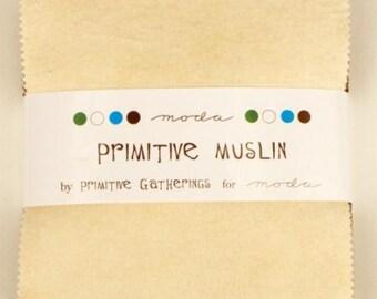 Flannel - Primitive Muslin by Moda Charm Packs