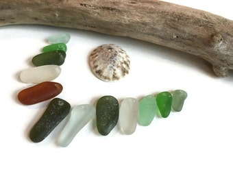 Genuine Sea Glass Pendants, Top Drilled, Jewelry Quality B, Glass Beach, Vintage, Natural, Beach Gypsy Soul, Boho, Spikes, Unique Supplies