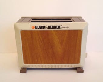 Cute Vintage Black and Decker Junior Toy Toaster