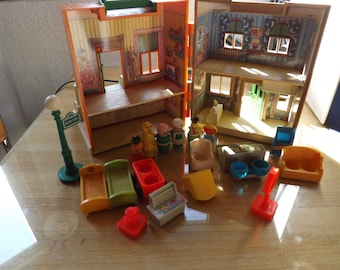 Vintage Fisher Price Sesame Street Apartment Figures and Accessories
