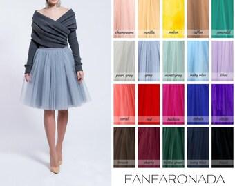 grey pearl tulle skirt, Handmade tutu skirt, High quality skirt, petticoat, party skirt, party tulle skirt, bridemaids skirt, wedding