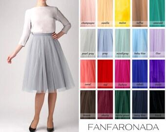 Grey tulle skirt, Light tulle skirt, Handmade tutu skirt, Adult tulle skirt, Adult tutu skirt, Petticoat, women's clothing