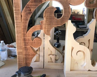 Corbels, Victorian reproduction, reclaimed lumber, no two alike!