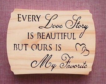 Our Love Story Wall Decor Cut On Scroll Saw