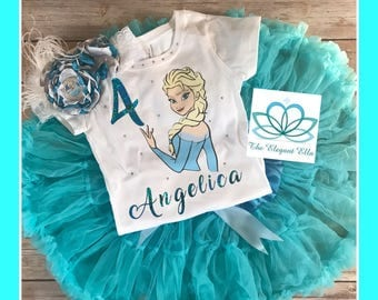 Elsa birthday shirt, Frozen princess birthday shirt, personalized Elsa shirt, personalized Elsa top, personalized birthday
