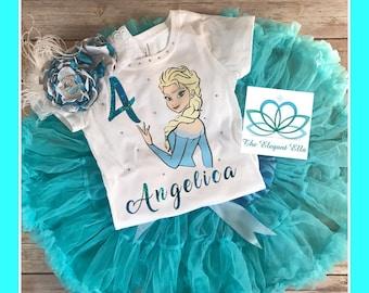 Elsa birthday shirt, Frozen princess birthday shirt, personalized Elsa shirt, personalized Elsa top, personalized birthday