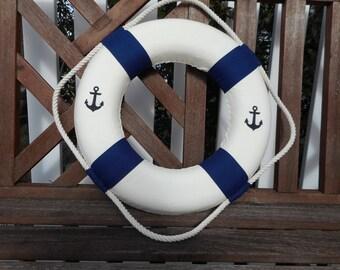 Nautical 15 inch life ring / beach decor / nautical decor