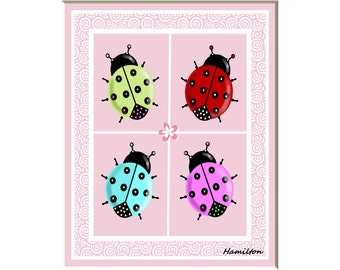 Ladybug art print, ladybug pictures, ladybug wall art. ladybug decor, ladybug nursery, kids ladybug art, 8x10 print