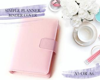 A5 A6 Planner Binder in Pastel 4 available colors || Kikki K Filofax Agenda Dokibook Lovedoki || Leather Inner Pockets