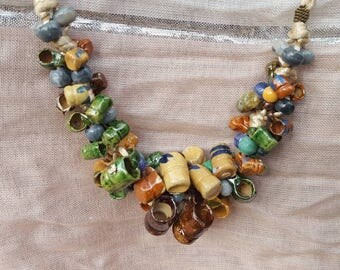 Big Crazy Ceramic Beaded Necklace