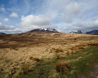 Rannoch Moor - Highlands of Scotland, travel photography, wanderlust, mountains, Glen Coe, mountain, hill, fine art photography