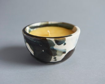 Ceramic Beeswax Candle