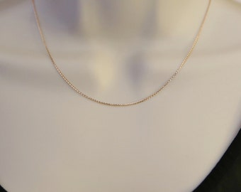 Solid 14k Rose Gold Cable Chain/Rose Gold Chain