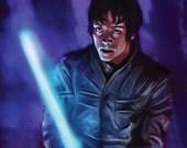 Luke Skywalke Star Wars Empire Strikes Back Darth Vader Han Solo Lando Princess Leia Fine Art Luster Art Print 11x17