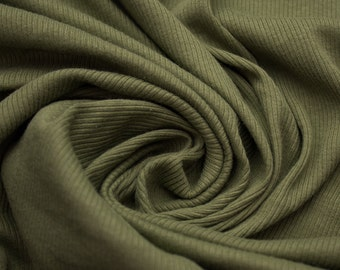 Light Cargo 54'' Medium-Weight 1x1 Cotton Rib Knit Fabric Style 3135