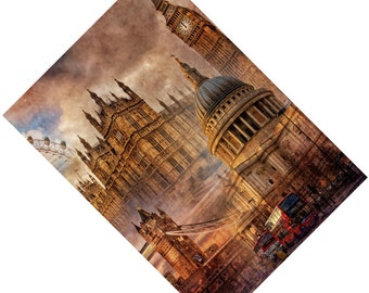 Passport Cover Case Holder -- London
