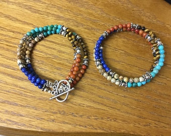 Multicolored Genuine Stone Bracelets
