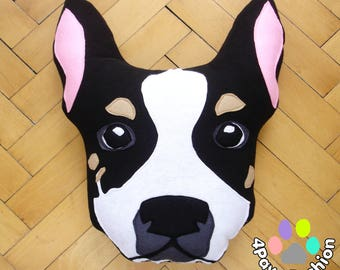 TRIXIE Chihuahua stuffed plush toy black and white Dog pattern throw pillow Handmade home decor Housewarming gift  OOAK / 4PawsFashion
