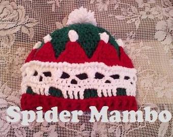 PDF  Crochet  Day of the Dead Santa Hat  Crochet Pattern