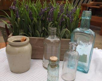 Small Crock, Decorate, Vintage Crock, Wooden Spoon, Stoneware