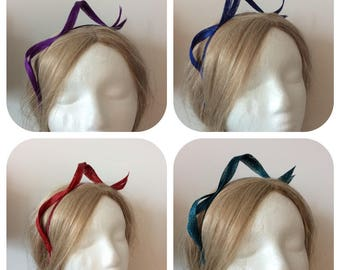 Simple Swirls Loops Sinamay Fascinator Headband - available in more than 10 colors