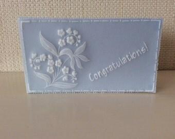 Gift Card - Parchment Craft, flowers, blank ,congratulations, wedding, birthday