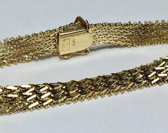 Vintage Italian 14KT Yellow Gold Bolla Bracelet