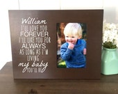 Personalized Baby Picture Frame, I'll Love You Forever, New Mother Gift, Custom Baby Shower Gift, Nursery Wall Art, Photo Gift for Wife