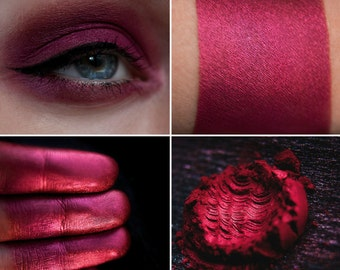 Eyeshadow: Hardhead - Fairy. Cranberry satin mineral eyeshadow by SIGIL inspired.