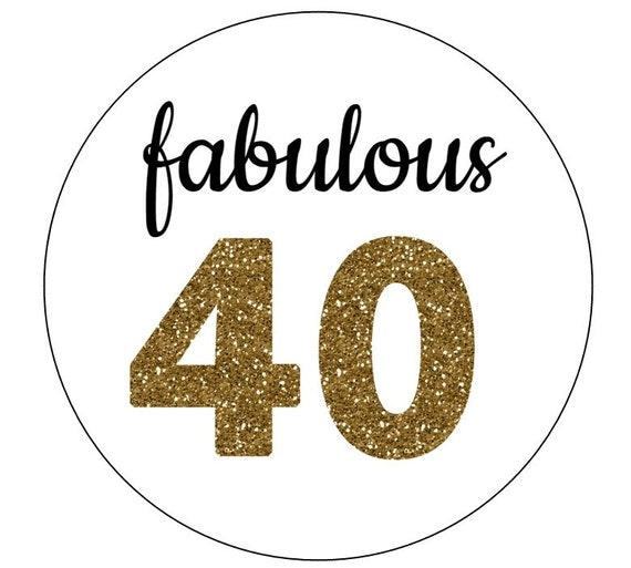 20 fabulous 40 stickers gold letters birthday favors