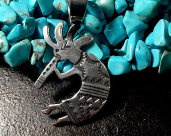 Large kokpelli pendent made from silver alloy, kokpelli pendent, kokpelli jewelry, silver kokpelli, kokopelli, kokpelli charm, kokopelli