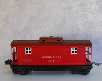 Vintage Lionel Tinplate #2817 Tuscan and Red Caboose