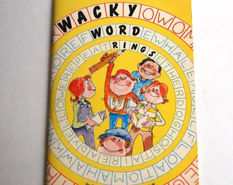 Vintage Children's Book, Wacky Word Rings