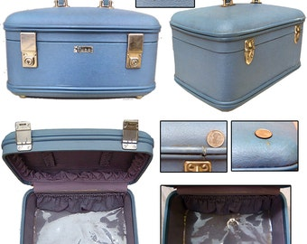 Vintage Train Case / Early 60s Train Case / Pin-up Train Case / Rockabilly Case