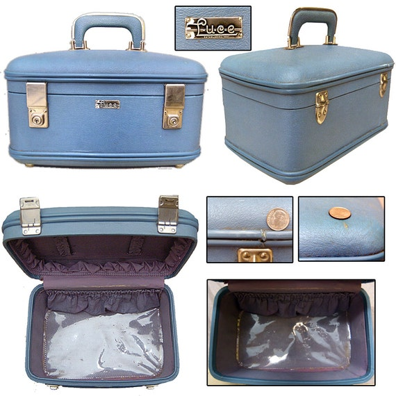 Vintage Train Case / Early 60s Train Case / Pin-up Train Case / Rockabilly Case