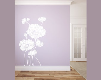 Decorative Flowers Silhouette Wall Decal Graphic Vinyl Sticker Bedroom Living Room Wall Home Decor