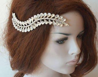 Bridal Rhinestone Headband, Wedding Crystal Headband, Bridal Hair Comb, Wedding Hair Comb,  Decorative Combs