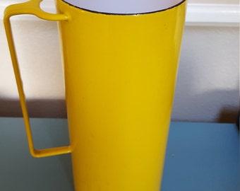 Vintage Dansk France Yellow Enamel Pitcher Kobenstyle