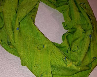 Neon Green-Loop scarf-Infinity Scarf-Women Scarf- Gift Scarf