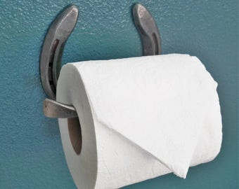 Horseshoe Toilet Paper Holder - The Heritage Forge