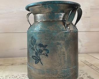 Aged Copper Patina Milk Jug