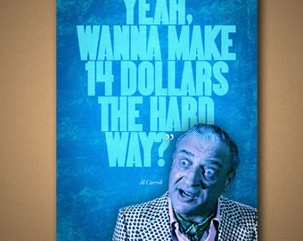 """CADDYSHACK """"14 Dollars The Hard Way"""" Quote Poster"""